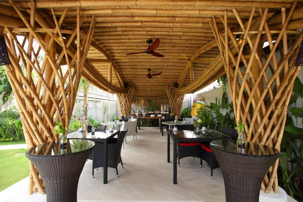 bamboo restaurant with view