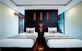 twinbedroom luxury villa canggu